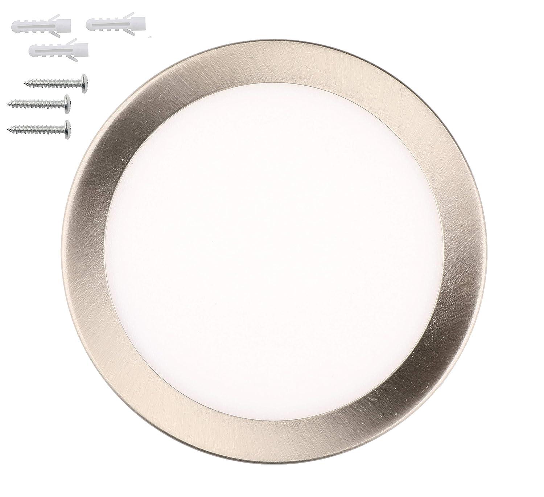 luz de puck blanco c/álido luz del armario Facon Luz LED redonda debajo del gabinete 3W luz del porche con im/án 12V DC 3500K