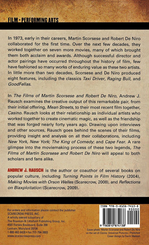 The Films of Martin Scorsese and Robert de Niro: Amazon.es: Andrew J ...