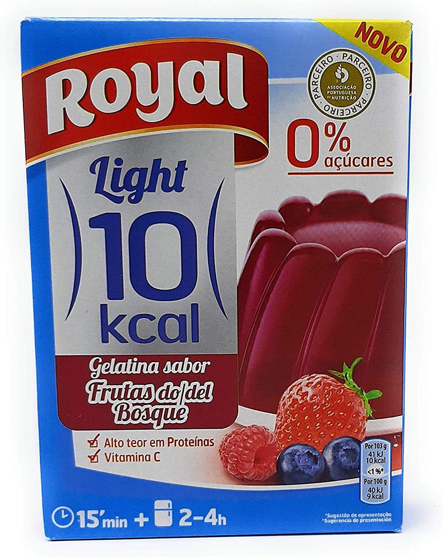 Royal - Gelatina Frutas del Bosque - Light - por 1 litro de aqua