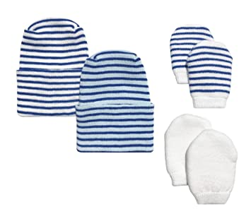 575f09ceb48 Image Unavailable. Image not available for. Color  Newborn Baby Boy 2 Pack  Navy   Light Blue Hats ...