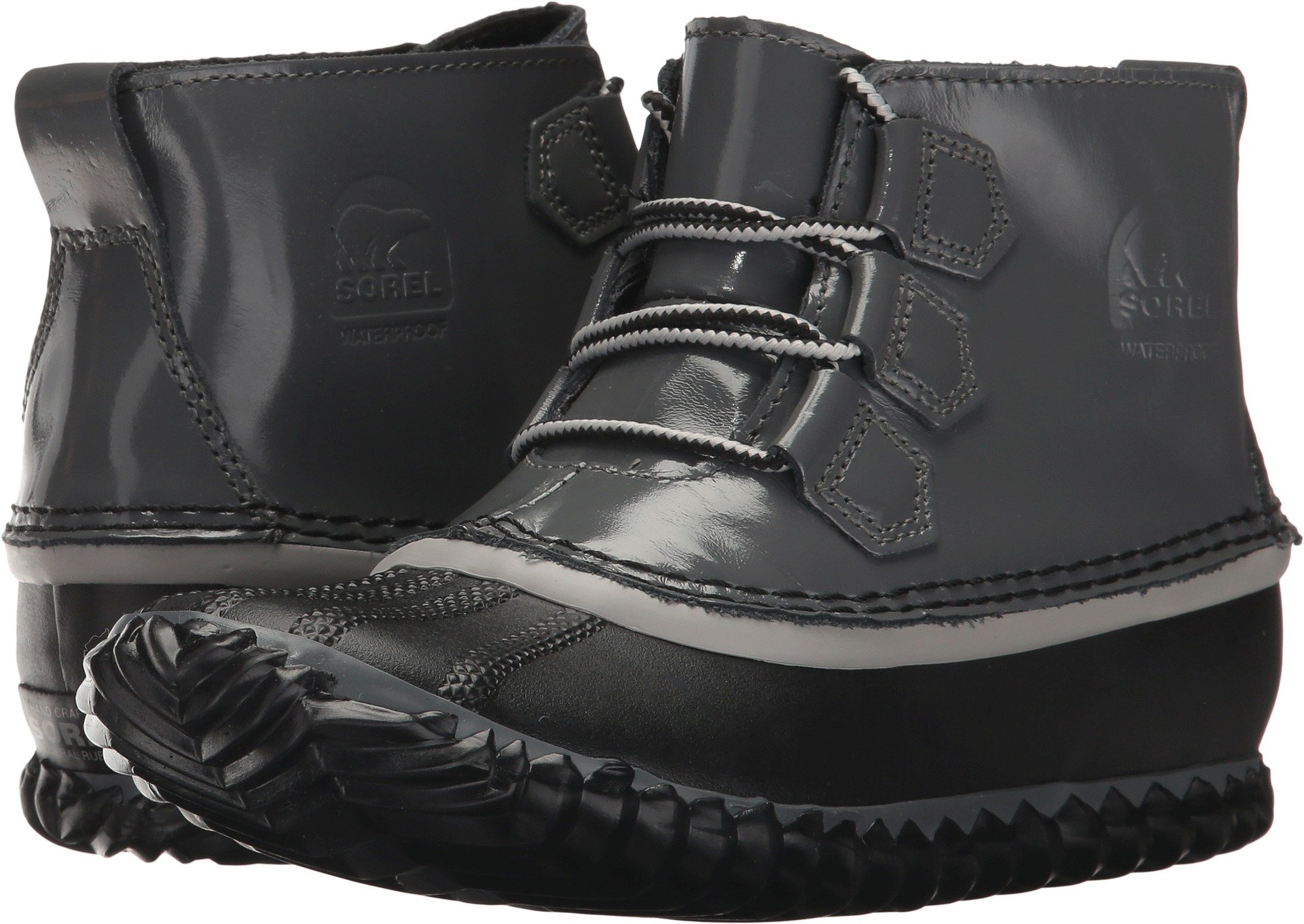 SOREL Womens Out N About Rain Boot, Graphite, 7.5 B(M) US
