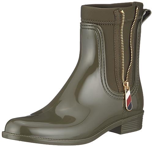 Tommy Hilfiger Material Mix Rain Boot, Bottes & Bottines de Pluie Femme