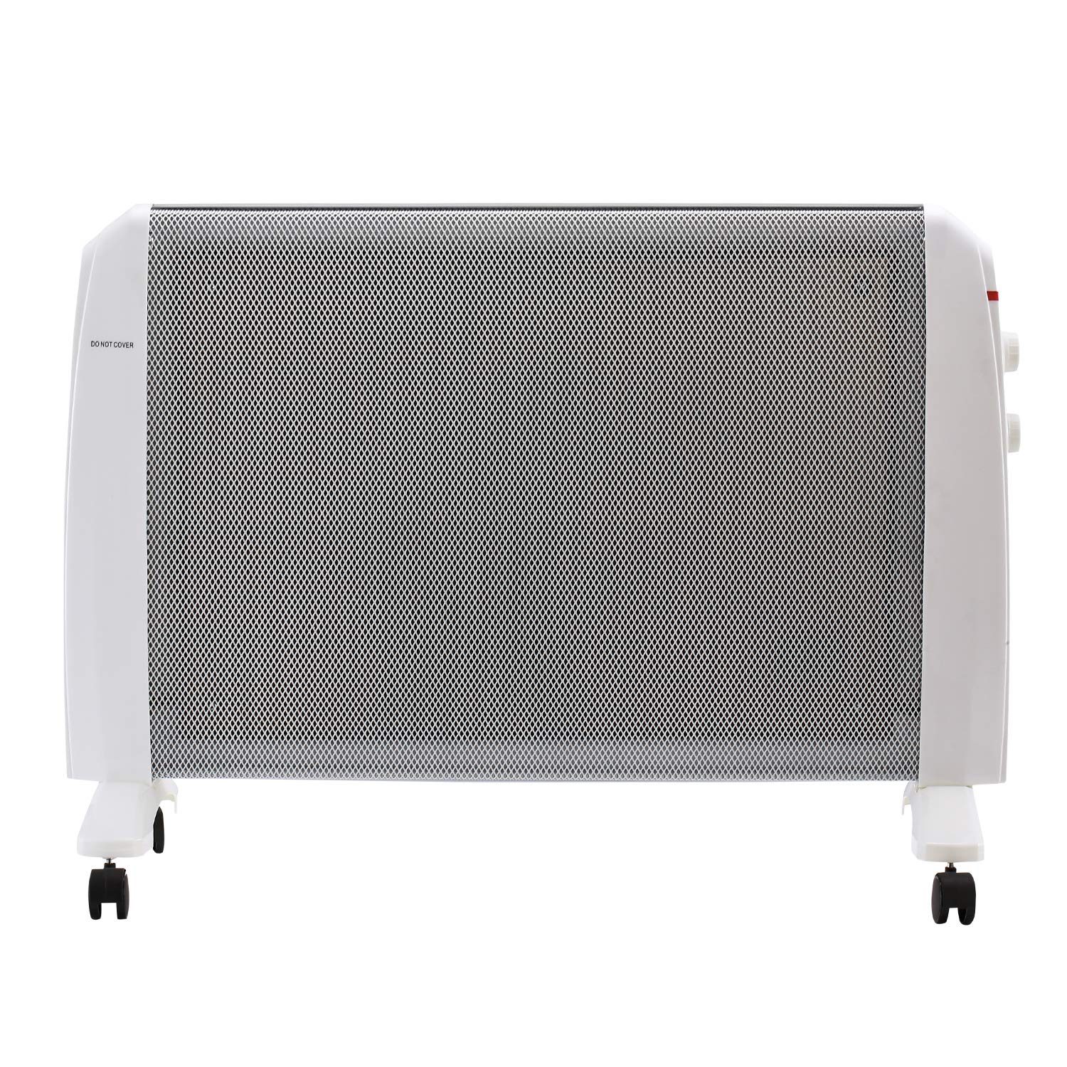 DOIT 34Inch White Convector Panel Heater w Wheels,Space Heater for Bedroom Home Office Electric Wall Heater