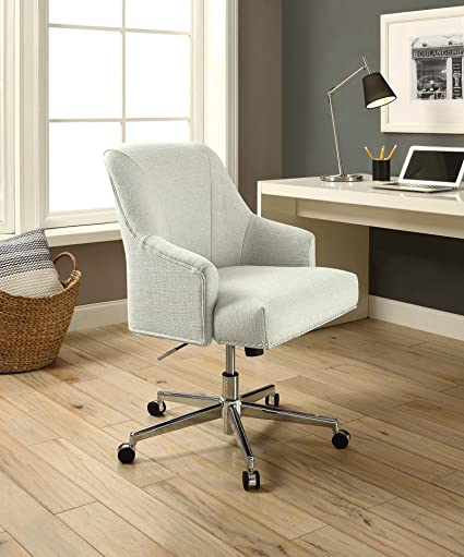 Serta U0026quot;Leightonu0026quot; Home Office Chair, Cozy Ivory