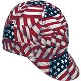 Mutual Industries 00336-00000-0675 Kromer USA Flag Style Welder Cap 6 3/ 4, Cotton, Length 5', Width 6'