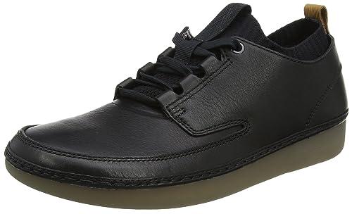 Mens Nature Iv Low-Top Sneakers, Black Clarks