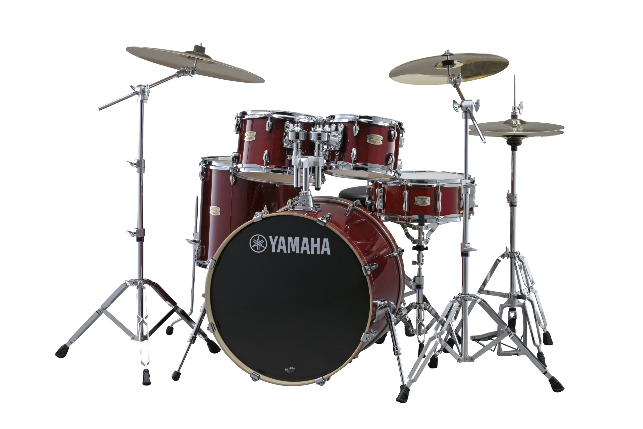 Yamaha Stage Custom Birch 5pc Drum Shell Pack - 20'' Kick, Cranberry Red
