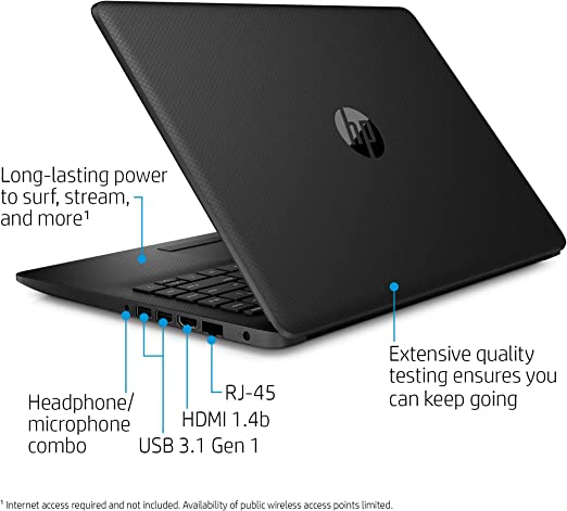 Amazon Com Hp 14 Inch Laptop Amd A4 9125 4gb Ram 500gb Hard Drive Windows 10 14 Cm0020nr Black Computers Accessories