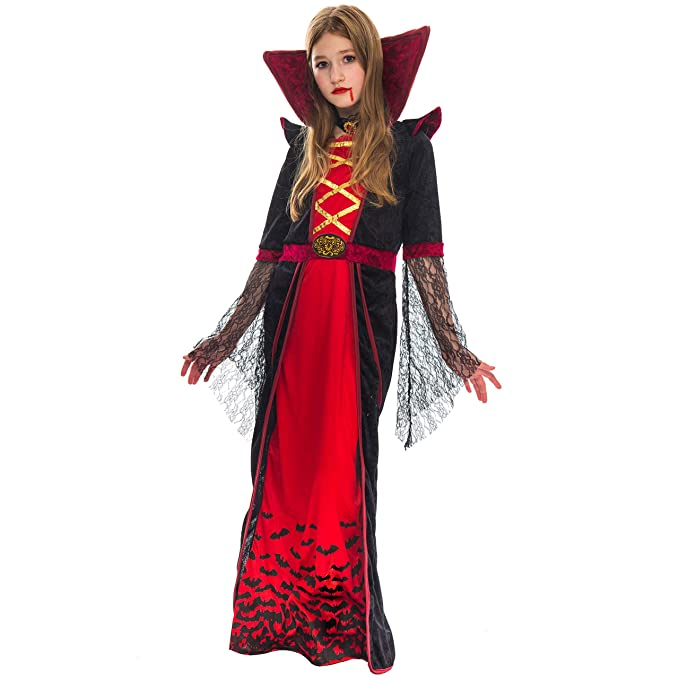 8e2b593958df Amazon.com  Spooktacular Creations Vampire Girl Costume (3T) Red ...