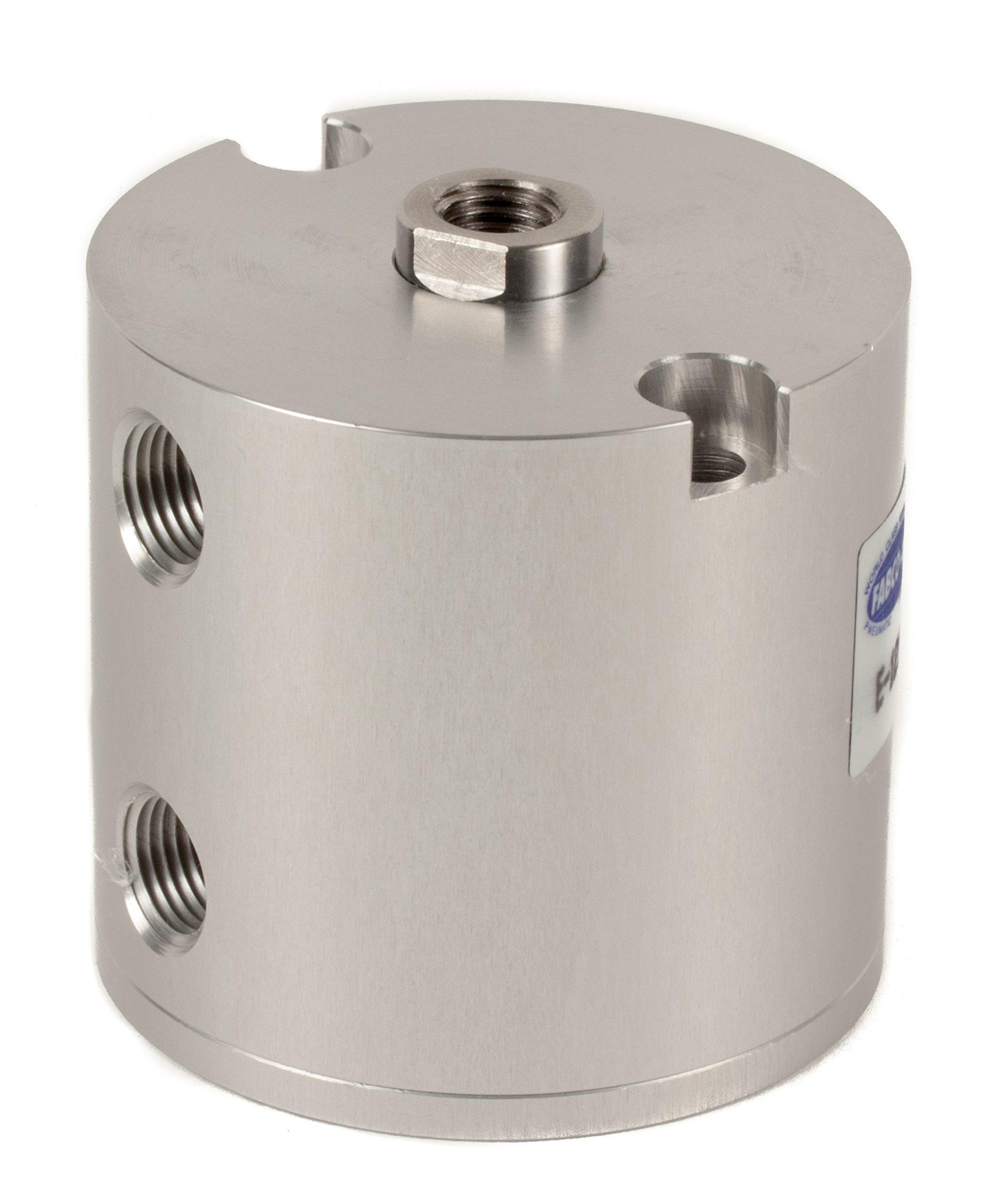 Fabco-Air E-121-X Original Pancake Cylinder, Double Acting, Maximum Pressure of 250 PSI, 1-1/8'' Bore Diameter x 1'' Stroke