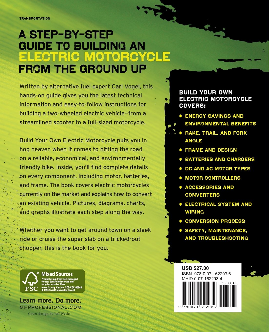 Build Your Own Electric Motorcycle Tab Green Guru Guides Amazon Battery Wiring Diagram Carl Vogel 9780071622936 Books