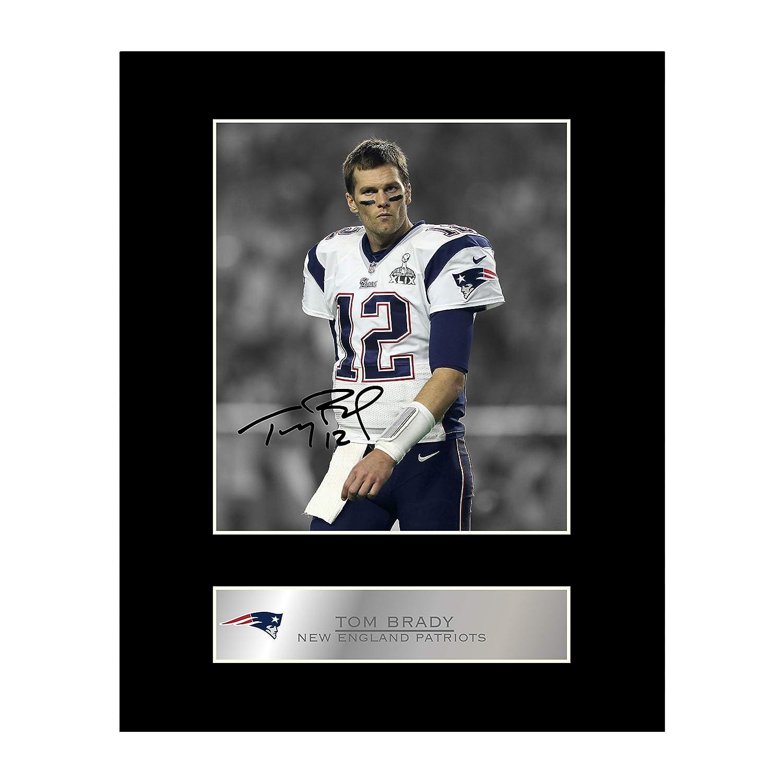 Tom Brady - Espositore di foto autografato dei New England Patriots Iconic pics