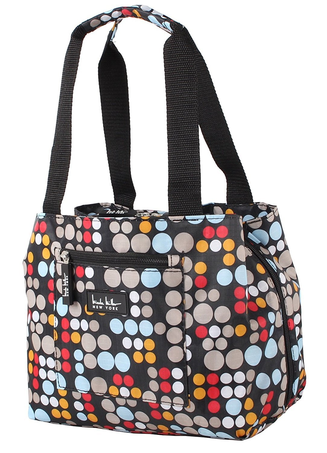 Nicole Miller of New York Insulated Lunch Cooler 11'' Lunch Tote (Bangles Red)