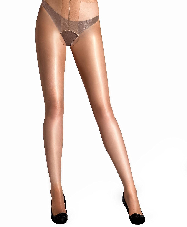 a1e48c492c5 Amazon.com  Cecilia de Rafael Vidrio Crotchless Tights  Clothing