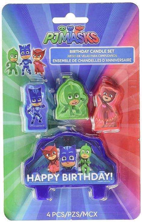 PJ máscaras Tarta de cumpleaños Velas – Juego de 4