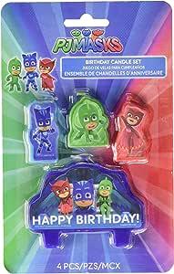 Amscan PJ Masks - Velas para tarta de cumpleaños