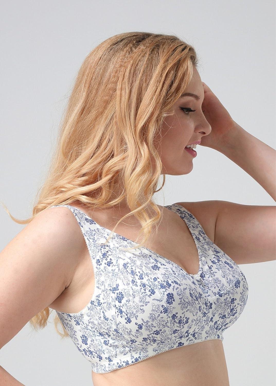 zhfc de la Azul - Blancas de porcelana - Kleine suihua Gucci Womens Wireless mm Cómoda y transpirable BH grasa la ropa interior para embarazadas, ...