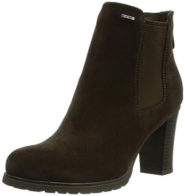 3329c3e4a91 Geox Womens Trish Amphibiox B Suede Biker Boots, Brown (Coffeec6009), 7 UK