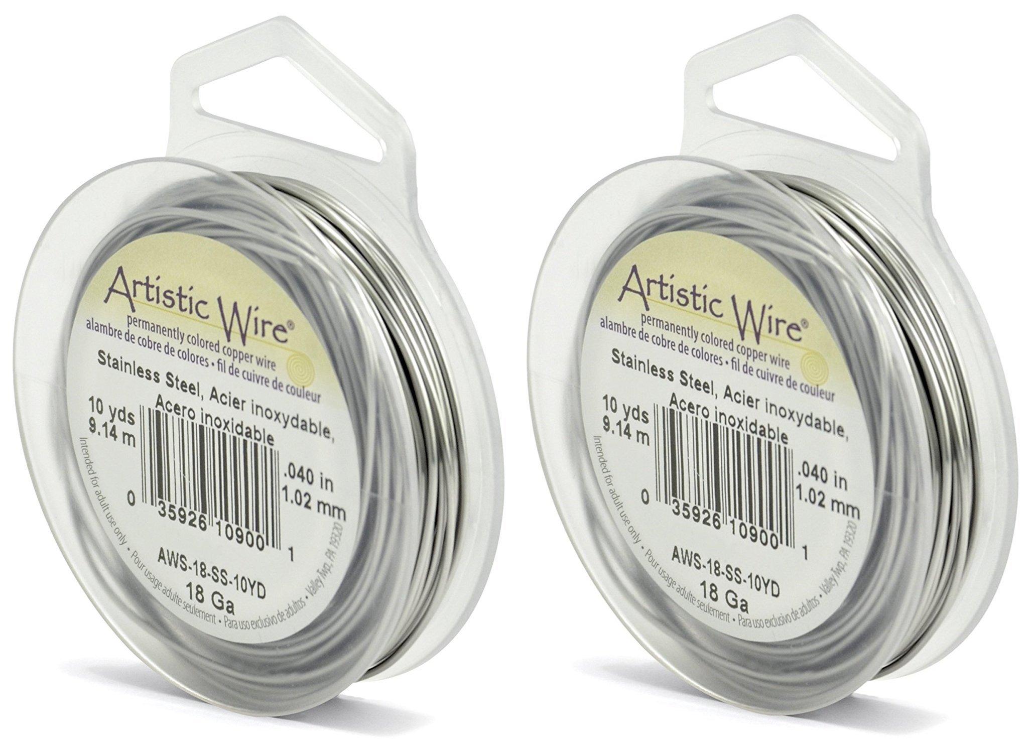 24 Gauge German Style Wire-Silver Round 37.4