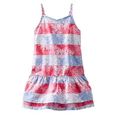 835ce47638f3 Amazon.com  OshKosh B Gosh Big Girls  Red   White Striped Dress  8 ...