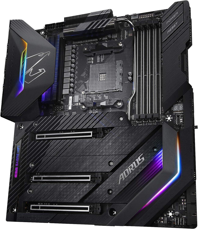 GIGABYTE X570 AORUS Xtreme (AMD Ryzen 3000 / X570 / E-ATX / PCIe4.0 / DDR4 / Aqantia 10GbE LAN / RGB Fusion 2.0 / Disipador de calor Fins-Array / 3xM.2 Thermal Guard / USB3.1 / Placa base para juegos)