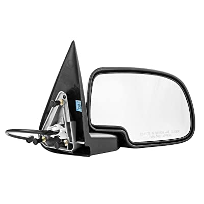 Passenger Side Mirror for Chevy Avalanche Chevy Silverado GMC Sierra 1500 2500 HD 3500 (1999 2000 2001 2002) Right Chrome Non-Heated Power Operated Folding Outside Rear View Replacement Door Mirror: Automotive
