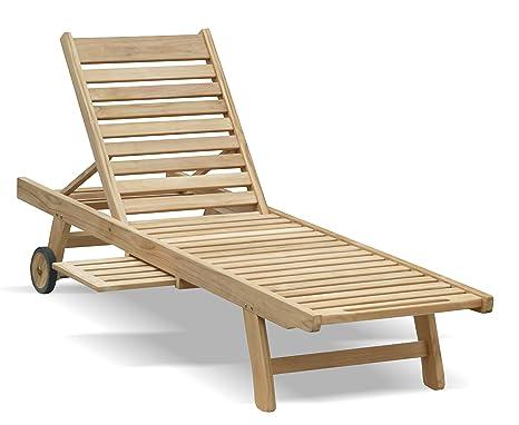 Sedia A Sdraio In Legno : Jati sedia a sdraio in teak sedia a sdraio in legno con ruote e