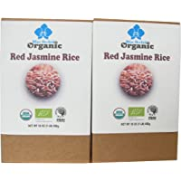 100% USDA Certified - Organic Thai Red Jasmine Rice 2 LB - Gluten Free - Whole Grain Superfood - from Thailand (2 LB)