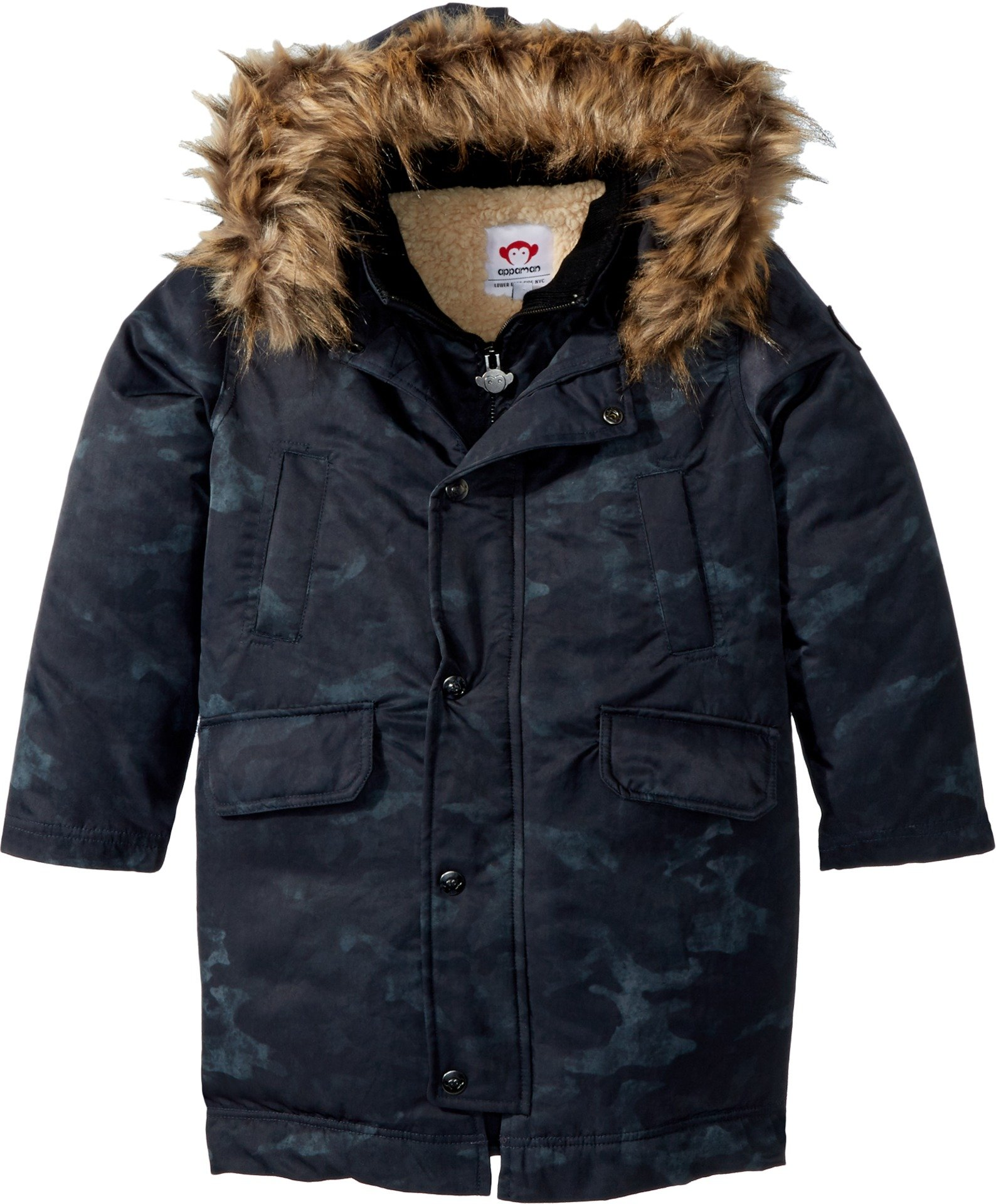 Appaman Boys' Pratt Down Parka, Midnight Camo, 6