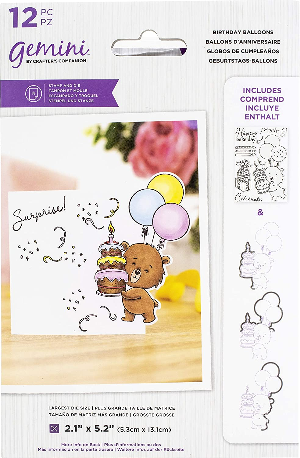 Gemini Character-Over-The-Edge Stamp /& Dies by Crafters Companion NEW 2020
