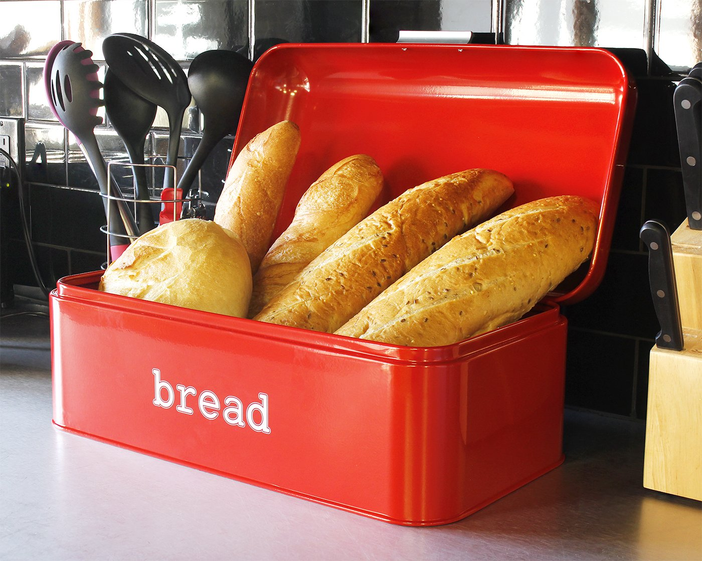 Retro Bread Box.