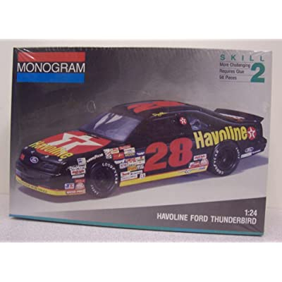 Monogram #2430 #28 Davey Allison Havoline Ford Thunberbird 1/24 sc model kit: Toys & Games
