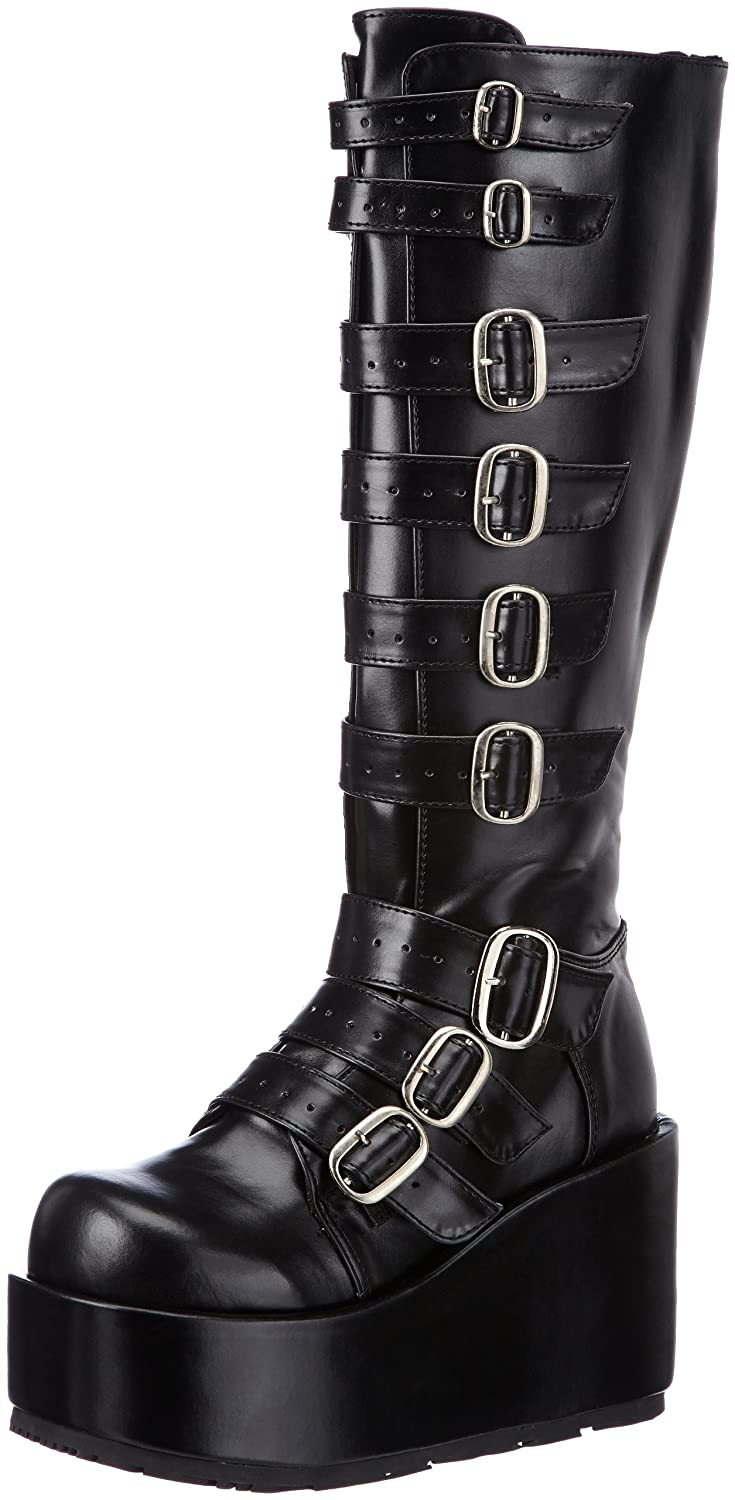 Demonia CONCORD-108 Damen Stiefel, Schwarz (Blk Vegan Leather), EU 36 (UK 3) (US 6)