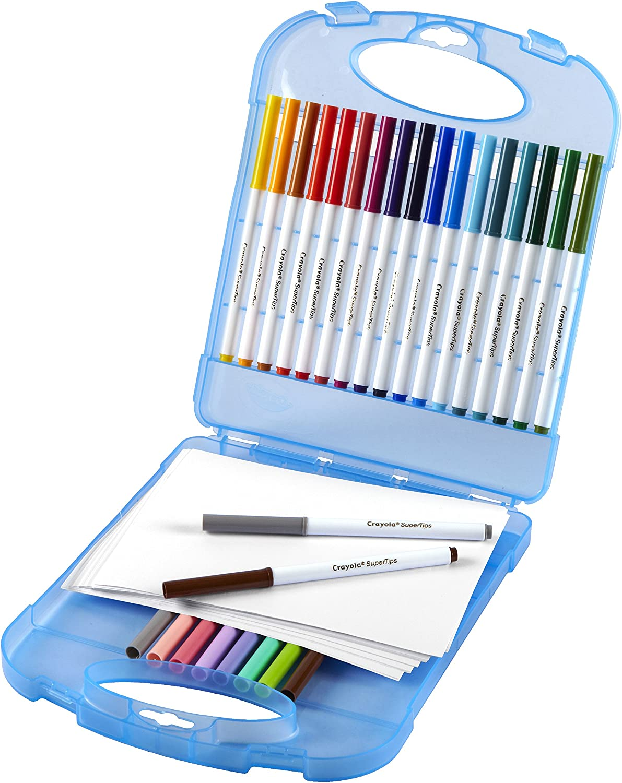 Crayola Super Tips Washable Marker Set, 65Piece, Gift for Kids: Toys & Games