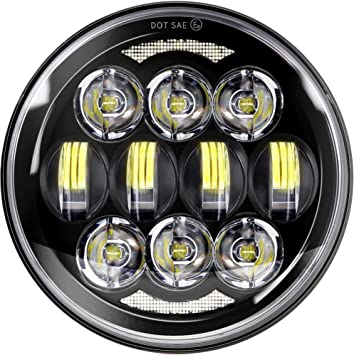 SUP-LIGHT 5-3//4 5.75 Inch Round LED Headlights for Harley Davidson Dyna Sportster Iron 883 Street Glide Softail with High//Low Light /& DRL Lamp