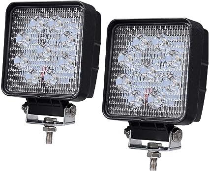 4X4inch Backup LED Work Lights Spot Square Pods Offroad Truck ATV Pickup Boat