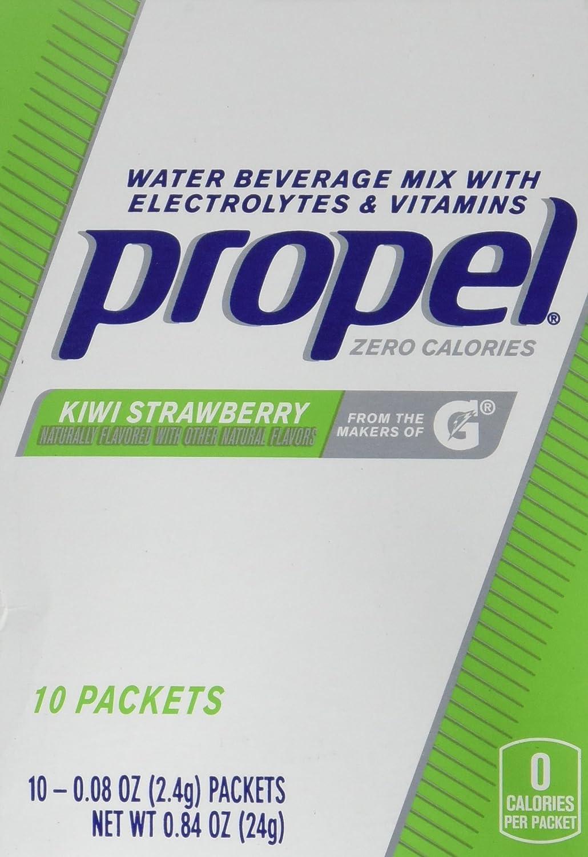 Propel Powder Packets Kiwi Strawberry with Electrolytes, Vitamins and No Sugar (10 Count)