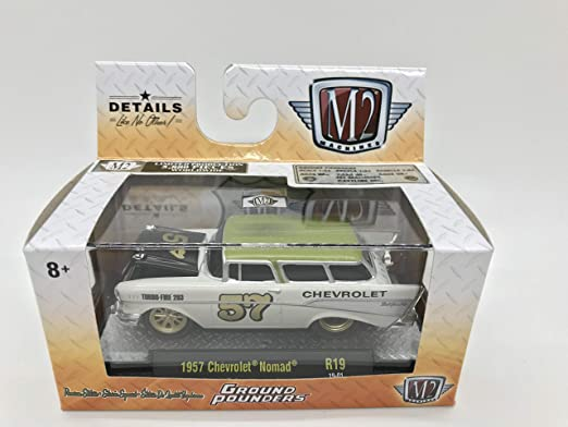 1 of 6880 M2 Machines by M2 Collectible Ground Pounders 1957 Chevy 150 1:64 Scale R18 18-09 Orange Details Like NO Other