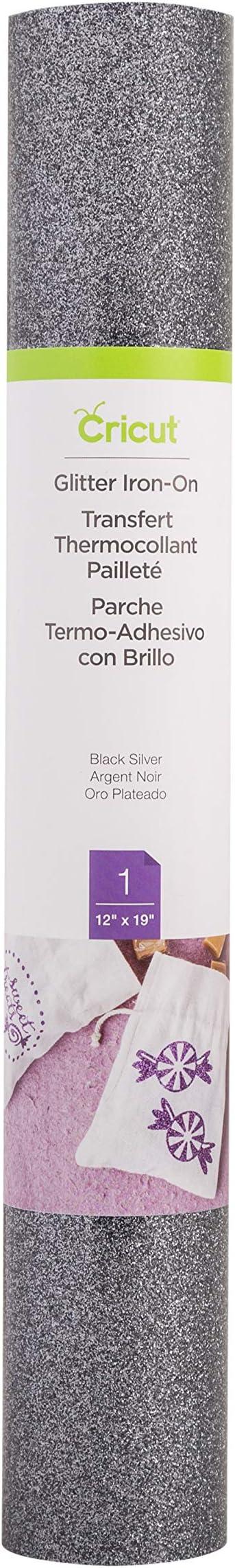 Black Cricut Iron on Glitter