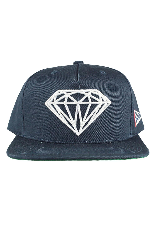 e0deb0efc33 Diamond Supply CO Brilliant Mens Snapback Cap Hat Navy Blue  Amazon.co.uk   Clothing