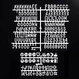 Blcak Felt Letter Board 10x10 Inches. Changeable