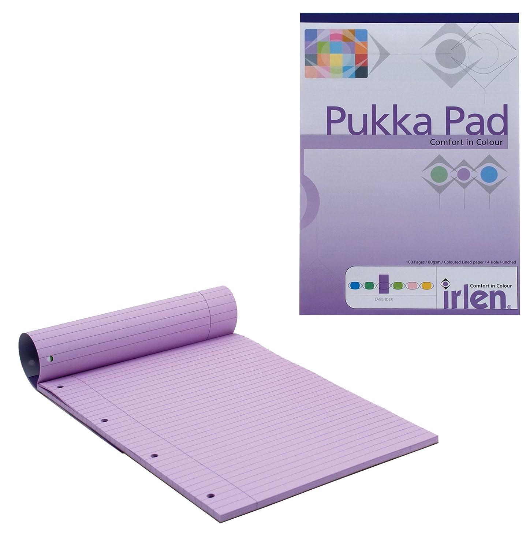 formato A4 adatto a persone dislessiche a righe con margini 80 g//m/² 100 pagine Pukka Pad 50 fogli quaderno a blocco