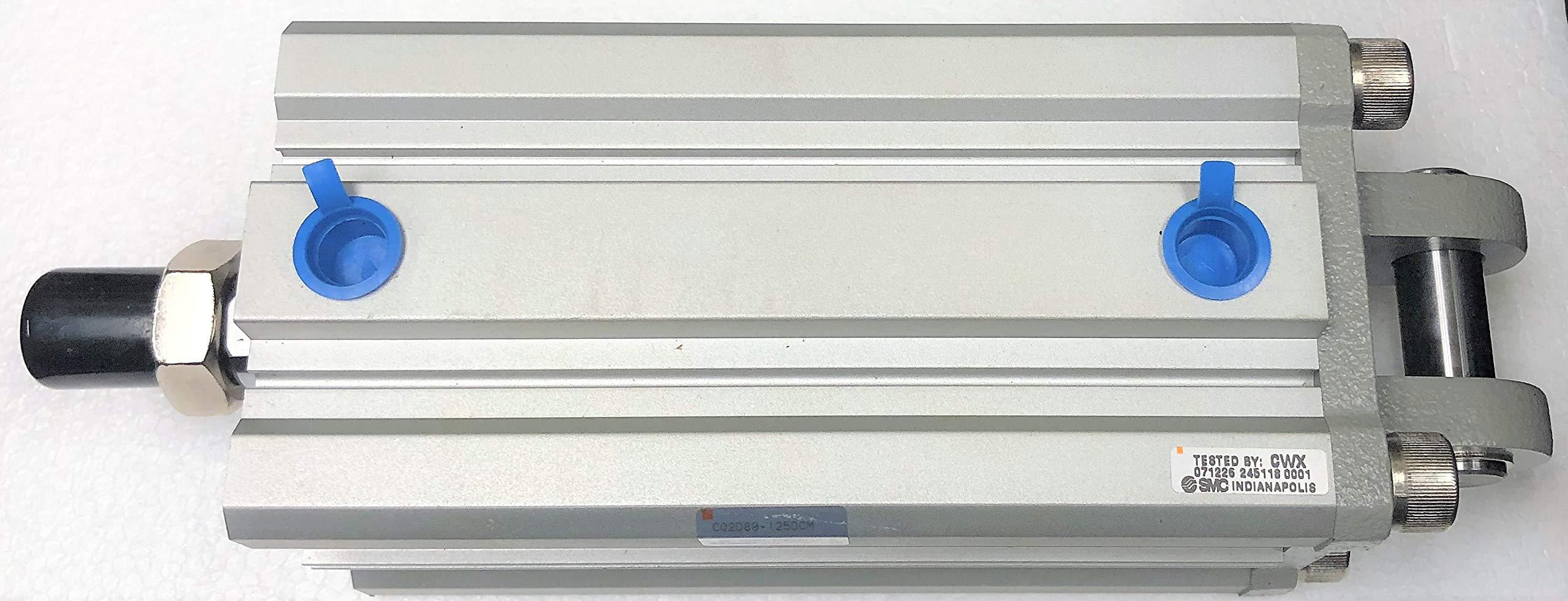 SMC Corporation CQ2D80-125DCM Compact Air Pneumatic Cylinder, Long Stroke, CQ2, 80mm Bore, 125mm Stroke