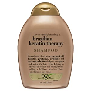Organix Ever Straightening Brazilian Keratin Therapy Shampoo, 13 Ounce