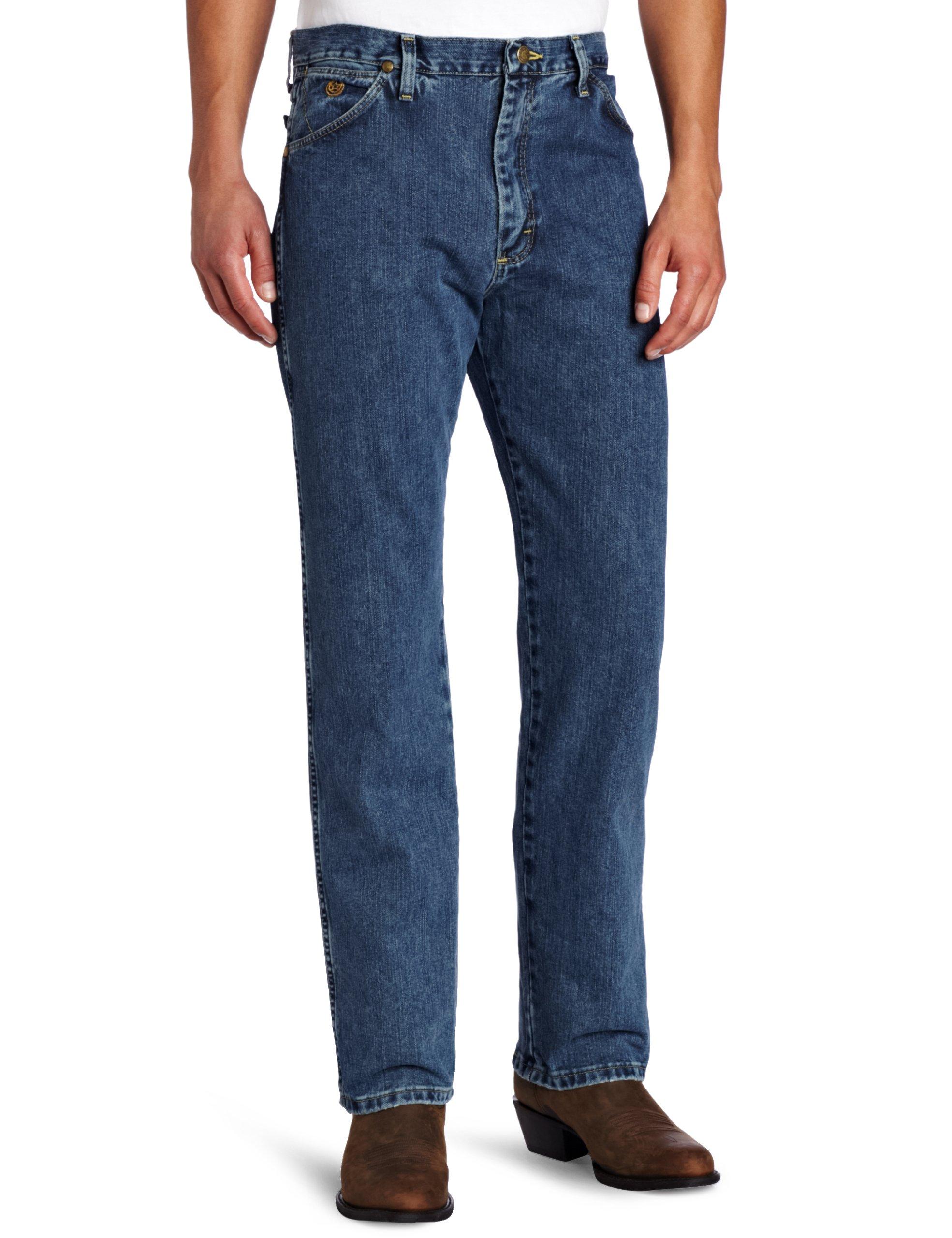 Wrangler Men's George Strait Cowboy Cut Original Fit Jean , Greyed Denim, 34W x 34L