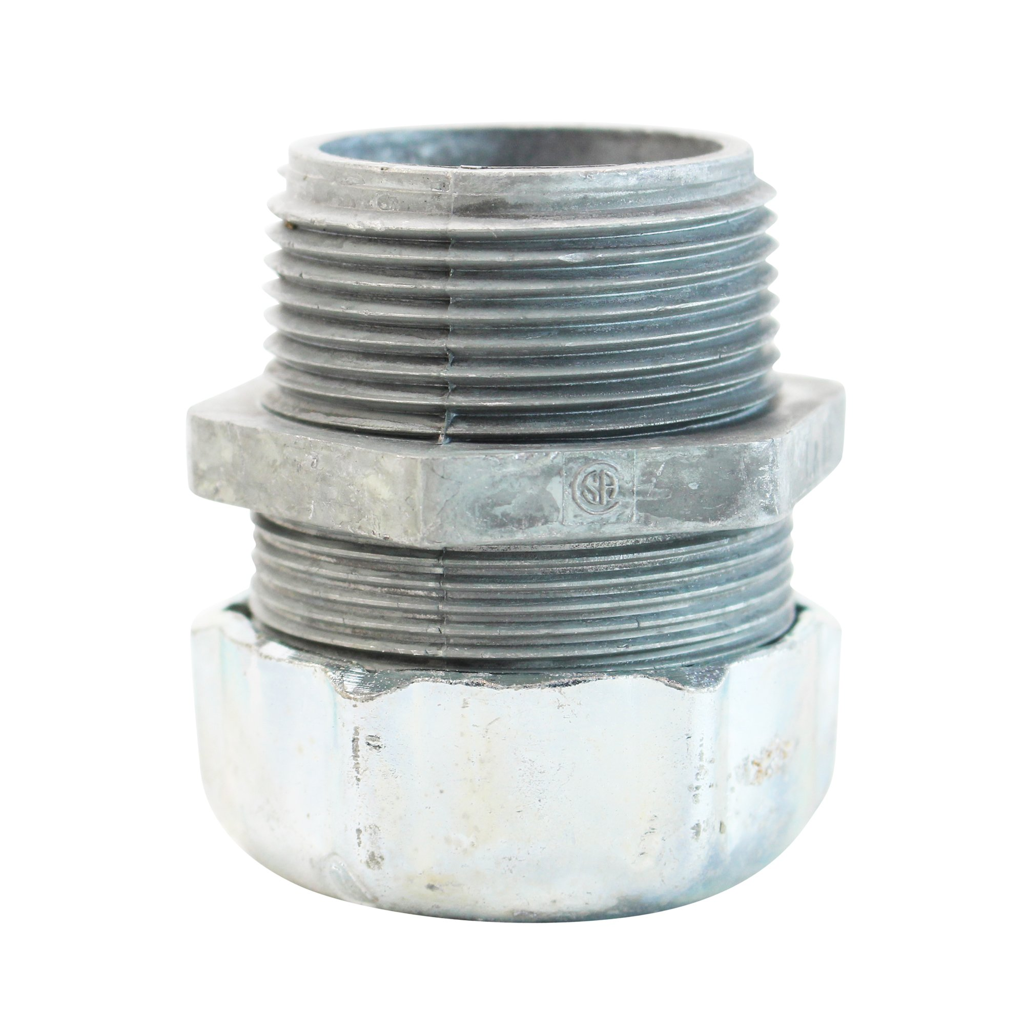 Thomas & Betts 2559 Liquidtight Strain Relief Cord Connector 1-1/4'' Male, Die-Cast Zinc (5 Pack)
