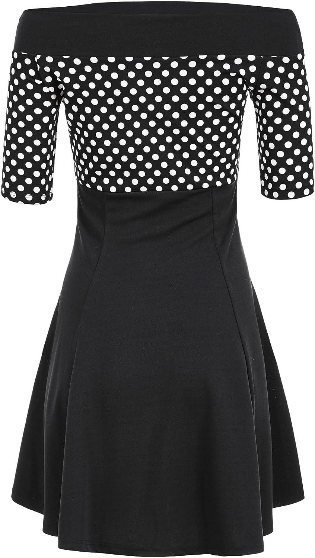 gestreiftes Kleid Damen Matrosen Pin Up Petticoat Rockabilly Kleid 50er streifen