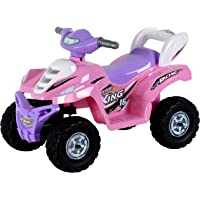 Toy House Desert King Small ATV Bike 6V Rechargeable Battery Operated Ride On for kids( 2to 4),Pink