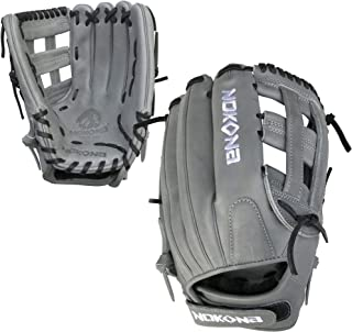 product image for Nokona AmericanKip Gray H-Web 12.5 Inch A-V1250H-GR BK Fastpitch Softball Glove (Black Lacing)