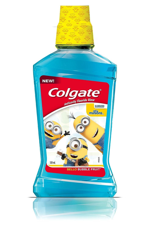 Colgate Kids Minions Anticavity Fluoride Mouthwash, Bubble Fruit, 500 mL Colgate-Palmolive CA 313905